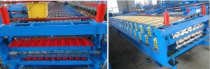 Double layer C8 C20 roof sheet roll forming machine 300x99 - What is the difference between double glazed tile machine and double roll forming machine